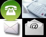 Lien vers les informations de contact, le formulaire de contact, la carte de localisation géographique et le plan d'accès