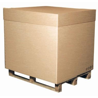 Containers : demi-caisse américaine avec couvercle