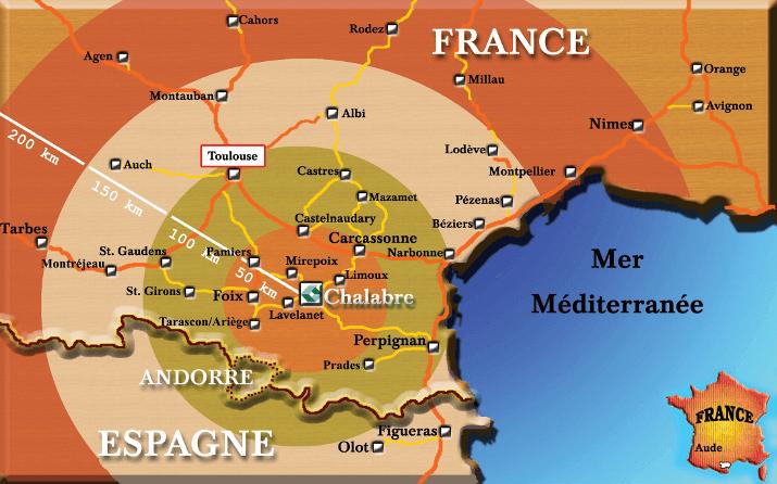 Carte de localisation géographique Emballages Cartofrance