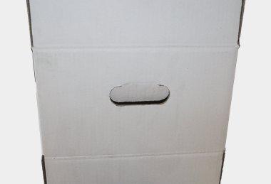 Découpe carton - Poignée non débouchée