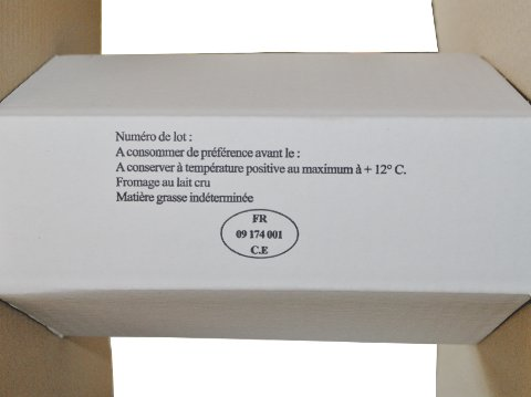 Impression carton - Informations sanitaires