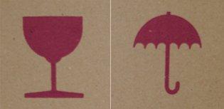 Impression carton - Logos génériques rouges