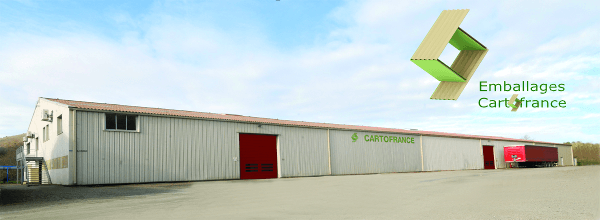 Bâtiment Emballages Cartofrance - panorama 3D - vue du sol